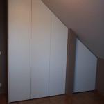 vestavěná skříň - podkroví