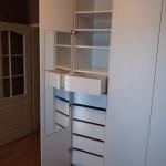 vnitřní dělení vestavěné skříně - podkroví